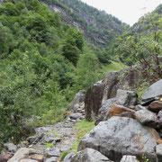 Sul sentiero per la Capanna Soveltra