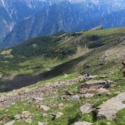 Discesa per direttissima sopra l'Alp de Bec