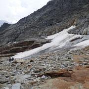 Arrivati al ghiacciaio