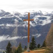 La nuova croce dell' Alpe di Motto 1864 m
