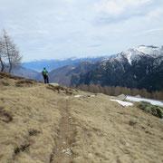 Arrivati all'Alpe Pesced