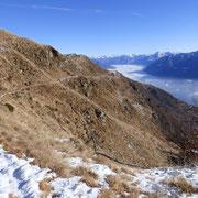 Sentiero che da Canva 1570 m conduce all'Alpe di Naccio