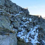 A pochi metri dalla cima ........
