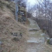 Sentiero per Davrosio passando da Pián Passamont