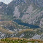 Lagh de Calvaresc visto dal Piz de l'Ardion