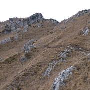 Dalla Bocchetta di Regagno 1659 m, si scende circa 100 m