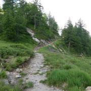 Sentiero per il Passo Forca