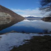 Lago Delio 930 m e diga Nord