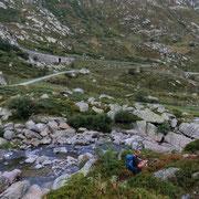 Attraversiamo il fiume Gotthardreuss
