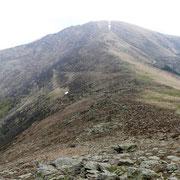 Monte Bar e in basso a sinistra l'Alpe Crocc