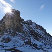 La Punta di Stou era una delle nostre mete odierne con il Pizzo Molare ma rinunciamo causa la neve .....