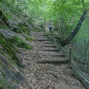 Sentiero ..... a scalini .....