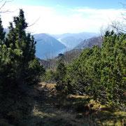 Durante la salita alla Cima di Fojorina, (sentiero I)