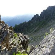 La cresta che scende dal Corno di Gesero