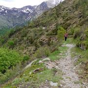 Discesa verso l'Alpe Ladrim