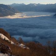 Sotto di noi un mare di nebbia ....