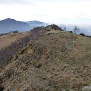 La cresta che conduce al Monte Bigorio