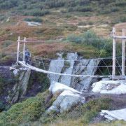 Nuovo ponte sospeso nella Val Termine