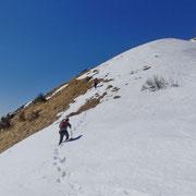 Oltre i 1400 m c'era ancora tanta neve