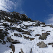A pochi metri dalla cima ..............