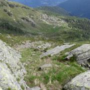 Discesa verso l'Alp d'Albion