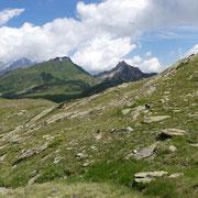 Traversone per raggiungere il Lago Pécian
