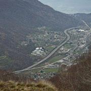 Verso Rivera e Monte Ceneri