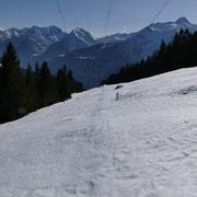 Dall'Alpe di Vignone in poi seguiamo la linea dell'alta tensione fino a Tidöcc