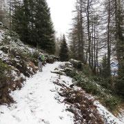 A 1900 m è arrivata anche la neve.......