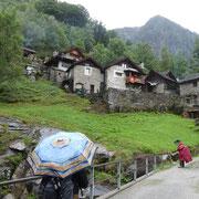 Monte di Predee 1001 m, partenza con pioggia