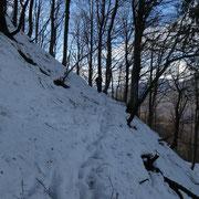 Passaggi delicati in presenza di neve sotto il Motto della Perosa Grande