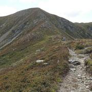 Alla base del Monte Segor proseguo in cresta