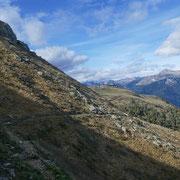 Sul sentiero che mi riporta all'Alpe Foppa