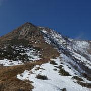 Ultimi 200 m alla cima del Faierone