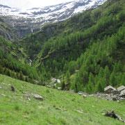 Verso la testata della valle