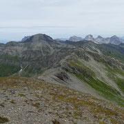 La cresta da percorrere fino al Lückli