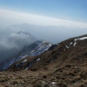 Verso il Monte Giove (la nostra discesa)
