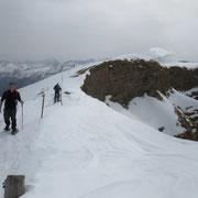 Siamo sulla cresta del Schollenhorn