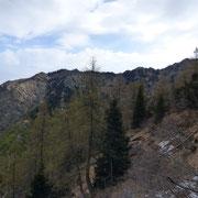 La cresta che dal Monte Tamaro conduce al Poncino della Croce