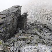 Cresta di collegamento tra le due cime