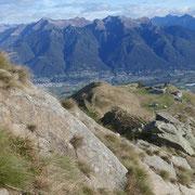 Sulla cresta verso La Manéra