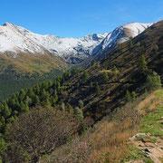 Il bel sentiero che conduce all'Alpe Matro