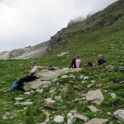 Piccola pausa all'imbocco della Val Granda