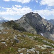 Il percorso in cresta dal Pass dei Omenit a I Rodond