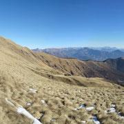 La cresta percorsa dal Monte Ferraro al Monte Gradiccioli