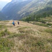 Riprendiamo il sentiero per l'Alpe Arena