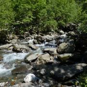 Attraversiamo il fiume sul fondovalle
