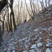 Sentiero sassoso