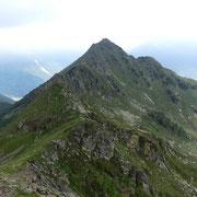 La cresta Cima delle Cicogne - Corno di Gesero