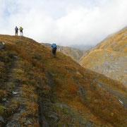Siamo a ca 2600 m in cima alla Val d'Inferno